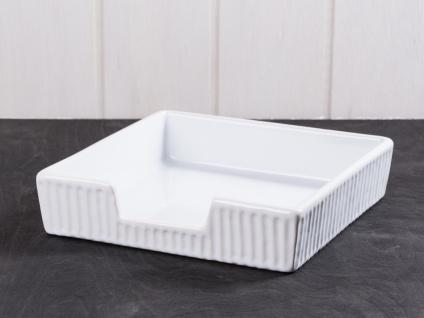 IB Laursen MYNTE Serviettenhalter Weiß Keramik Geschirr PURE WHITE Halter 19x19