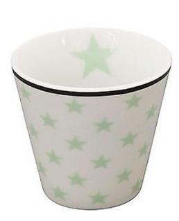 Krasilnikoff ESPRESSO Tasse STERNE Weiß / Grün Porzellan Stern Becher Kaffee