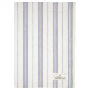 Greengate Geschirrtuch ELINOR Grau mit Streifen Baumwolle 50x70 Küchentuch