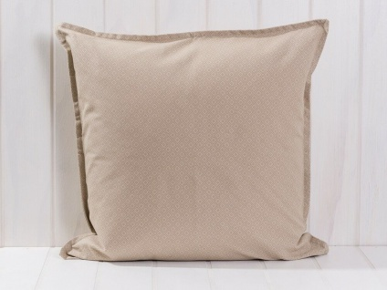IB Laursen Kissenbezug Karomuster beige/grau Kissenhülle Baumwolle 50x50
