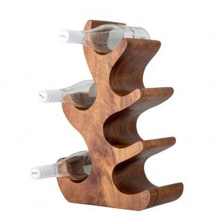 Bloomingville Weinregal Akazienholz 46 cm Flaschenregal Halter für 6 Flaschen