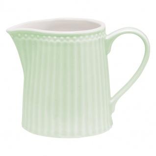 Greengate Milchkännchen ALICE Grün Sahnekännchen Everyday Geschirr PALE GREEN