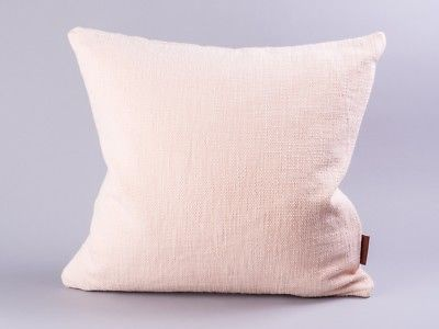 Cozy Living Kissen 50x50 Puder Baumwolle blau mit Füllung rosa