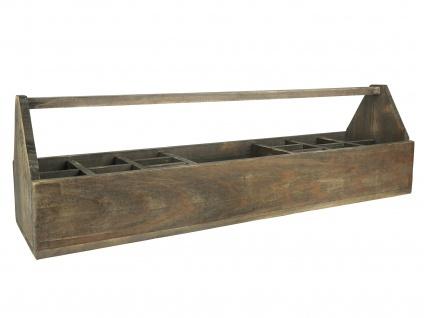 IB Laursen Kiste mit 15 Fächern und Henkel 90 cm Aufbewahrungskiste Ordnungsbox
