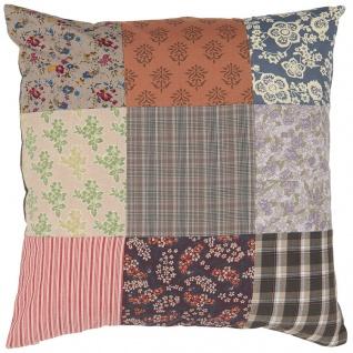 IB Laursen Kissenhülle PATCHWORK Multi Farben Kissen 50x50 Kissenbezug Baumwolle