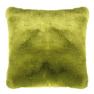 Pad Kissen SHERIDAN Fellkissen grün Kissenhülle 45x45 Fell Kissenbezug Concept