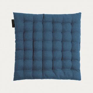 Linum Sitzkissen PEPPER Indigo BLAU 40x40x3 cm Stuhlkissen mit Füllung Baumwolle