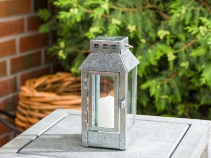A2 Living Allwetter Laterne Micro Verzinkt klein 22 cm Metall Outdoor wetterfest