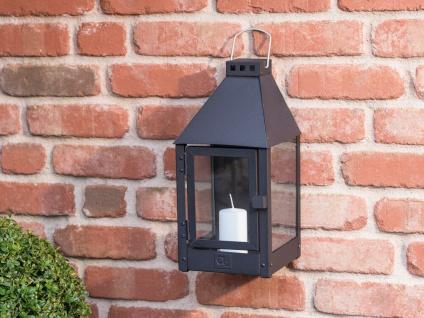 A2 Living Allwetter Wandlaterne schwarz pulverbeschichtet 36 cm Metall Outdoor