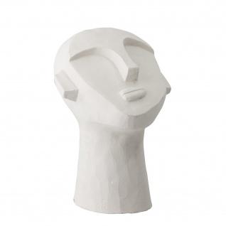 Bloomingville BÜSTE Zement Skulptur Weiß Gesicht Deko Figur Höhe 22 cm