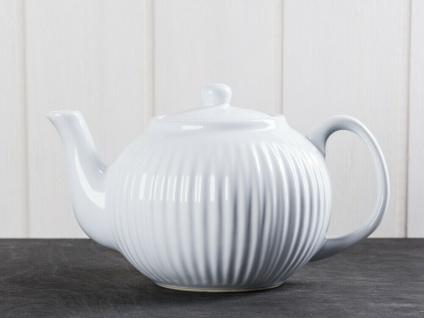 IB Laursen MYNTE Teekanne Weiß Keramik Kanne pure white 1 Liter Geschirr