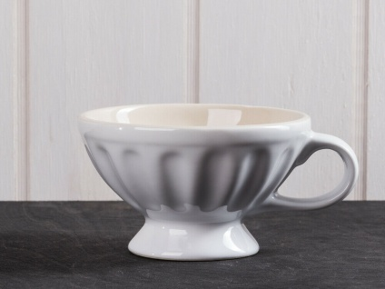 "Tasse geriffelte Keramik Mynte /""Pure White/"" IB Laursen Tasse Jumbo"