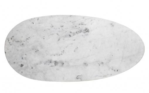 Bloomingville Schneidebrett MARMOR Weiß Oval 53 cm Frühstücksbrett Servierbrett
