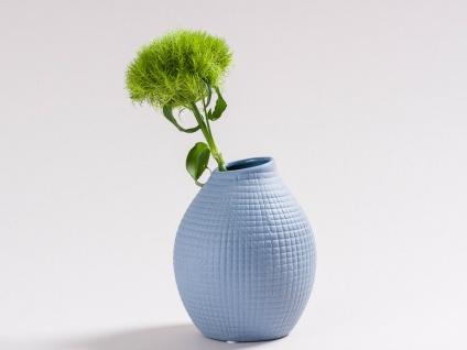Vase LUCKY Blau Keramik Blumenvase 13.5 cm Skandinavisches Design Nordic Style - Vorschau 2