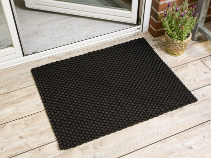 Pad Outdoor Matte UNI SCHWARZ 72x92 Fussmatte Teppich Pad Concept Fußmatte