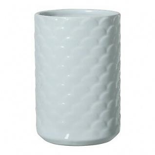 Bloomingville Vase Ice blau Keramik Blumenvase rund 17 cm hoch 7 cm Durchmesser - Vorschau