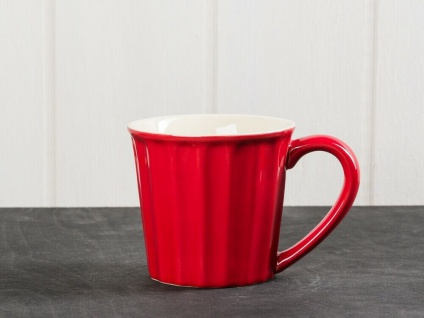 IB Laursen MYNTE Becher Rot STRAWBERRY Tasse Keramik 250 ml Geschirr Kaffeetasse