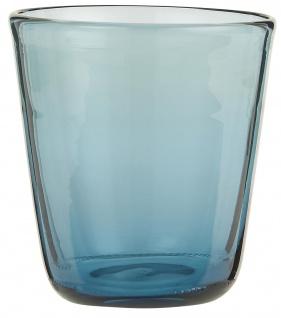 IB Laursen Trinkglas Blau Saftglas 180 ml 8x9 cm Wasserglas blaues Glas