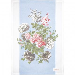 Greengate Geschirrtuch PETRICIA Blau Blumen Baumwolle 50x70 Küchentuch