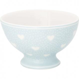 Greengate Schale PENNY Pale Blue Blau Herzen Snack Bowl 180 ml Porzellan