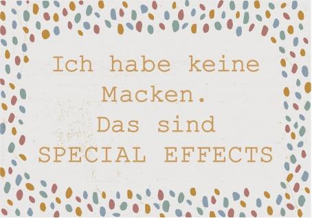 IB Laursen Schild ICH HABE KEINE MACKEN Blechschild 14x20 Metallschild Vintage