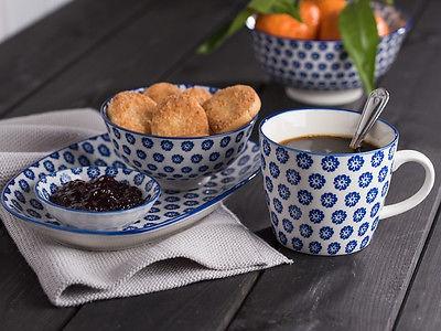 IB Laursen Schale LIVA Mini blau weiß Blumen Geschirr Schüssel Porzellan - Vorschau 3