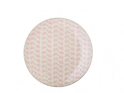 Bloomingville Kuchenteller MAYA Keramik Teller 20 cm Geschirr rosa Design Blumen