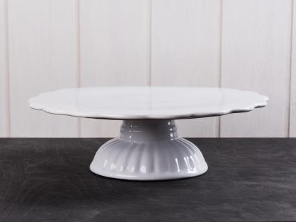 IB Laursen MYNTE Tortenplatte Weiß Keramik Kuchenplatte PURE WHITE Geschirr - Vorschau 1