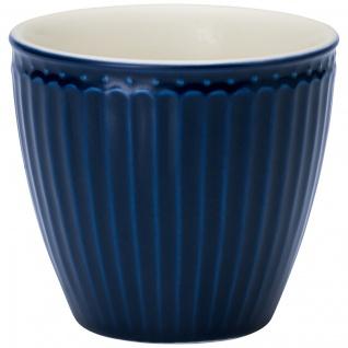 Greengate Latte Cup Becher ALICE Dunkelblau Everyday Geschirr DARK BLUE 300 ml