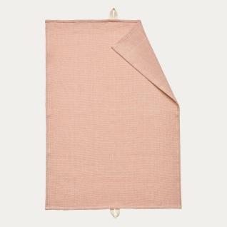 Linum Geschirrtuch AGNES Rosa Baumwolle 50x70 cm Handtuch Altrosa Waffelstruktur