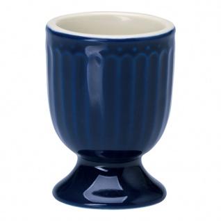 Greengate Eierbecher ALICE Blau 6.5 cm Keramik Everyday Geschirr DARK BLUE