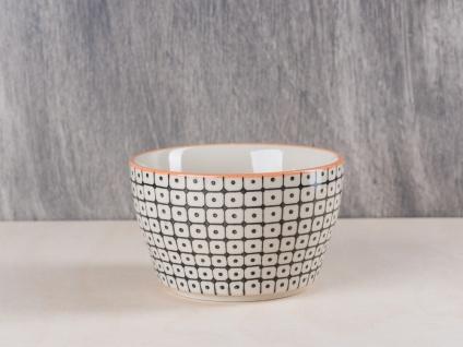 Bloomingville Carla Müslischale schwarz creme Schale Schüssel Keramik Geschirr - Vorschau 1