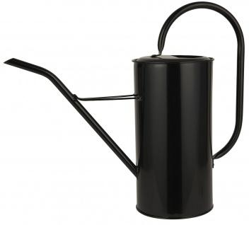 IB Laursen Gießkanne Schwarz 2.7 Liter Metall Blumengießkanne Wasser Kanne