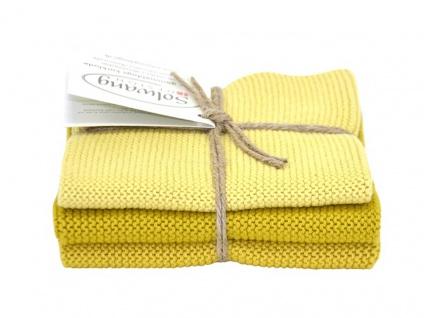 Solwang Wischtuch SAFRAN KOMBI 3er Set Tücher Wischlappen Wischtücher Gelb