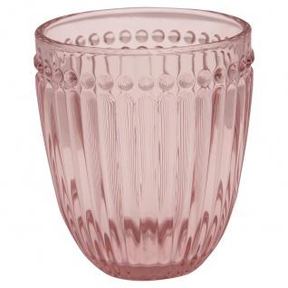 Greengate Glas ALICE PALE PINK Rosa Wasserglas 300 ml Trinkglas Saftglas - Vorschau