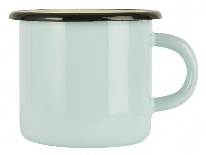 IB Laursen Becher Emaille Blau Tasse Hellblau 400 ml Kaffeebecher