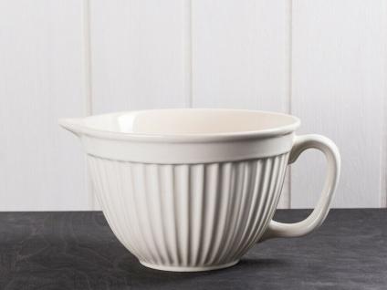 IB Laursen MYNTE Rührschüssel Creme Weiß Keramik Geschirr BUTTER CREAM 1700 ml