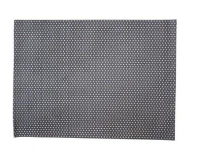 Krasilnikoff Tischset PUNKTE Dunkelgrau Baumwolle Platzset Grau Weiß gepunktet