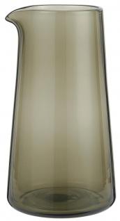 IB Laursen Kanne Glas Rauch 1 Liter Krug 10x20 cm Karaffe Rauchglas Smoke