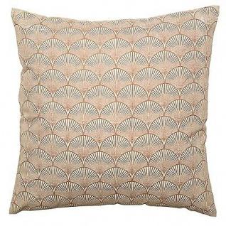 Bloomingville Kissen 50x50 braun mit Muster inkl Füllung Baumwolle