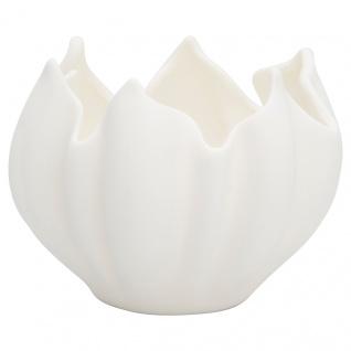 Greengate Schale TULIP Weiß Keramik Kerzenhalter Deko Schale Tulpen Form 10x11cm