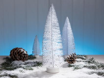 Deko Aufsteller TANNENBAUM weiß 32 cm Dekofigur Weihnachtsdeko Tischdeko Weihnac