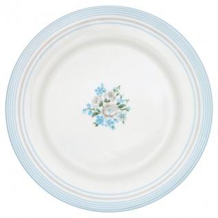 Greengate Essteller NICOLINE Weiß Blau 26 cm Porzellan Teller Geschirr Blumen