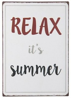 IB Laursen Metallschild - Relax it's Summer - Deko Schild Metall Blechschild