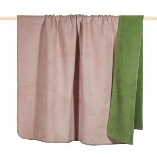 pad concept Wolldecke Hobart rosa grün Decke Wohndecke Kuscheldecke