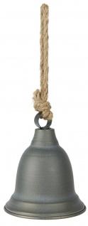IB Laursen Glocke Metall Grau 12 cm Deko Hänger Weihnachtsdeko Geschenk Anhänger