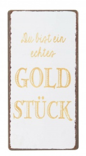 IB Laursen Magnet - Goldstück - Metallschild Kühlschrankmagnet Deko Schild