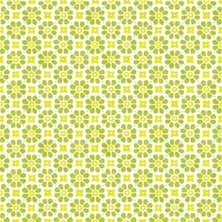 Ambiente Servietten LAUREEN GREEN YELLOW Blumen weiß gelb grün 20 Stck 33x33