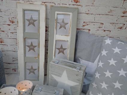 Bilderrahmen Newcastle für 3 Fotos. im Retro Style aus Holz in weiß. 60 x 19.5cm - Vorschau 2