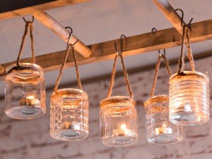 Windlicht Hänger WiITTDÜN 5er Set Glas Kordel Teelichtglas Deko Maritim Teelicht